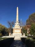 Obelisco del 2 de mayo de 1808 vista desde el Ritz